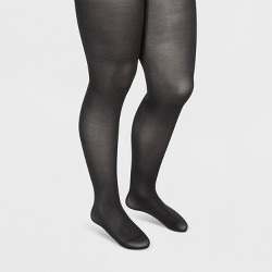 Women's 50D Opaque Tights - A New Day™ Heather Gray