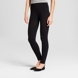 """Women's Cotton Blend Seamless Leggings with 5"""" Rise - A New Day™ Black"""