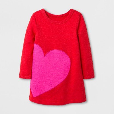 Toddler Girls' Valentine's Day A-Line Dress - Cat & Jack™ Red 12M