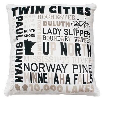 MN Words Throw Pillow Beige 18 x18  - THRO by Marlo Lorenz