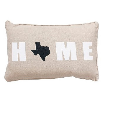 TX Throw Pillow Gray 12 x20  - THRO by Marlo Lorenz
