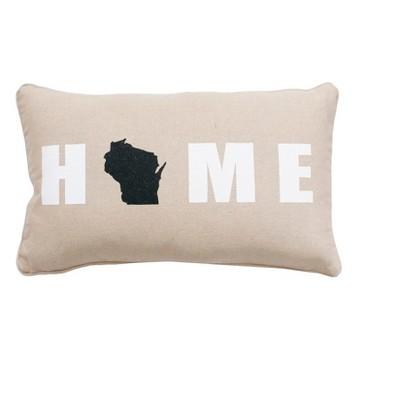 WI Throw Pillow 12 x20  - THRO by Marlo Lorenz