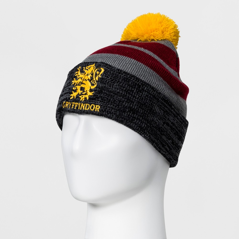 805d1460 UPC 490440617225 product image for Men's Harry Potter Gryffindor Knit Hat  with Pom - Grey One ...