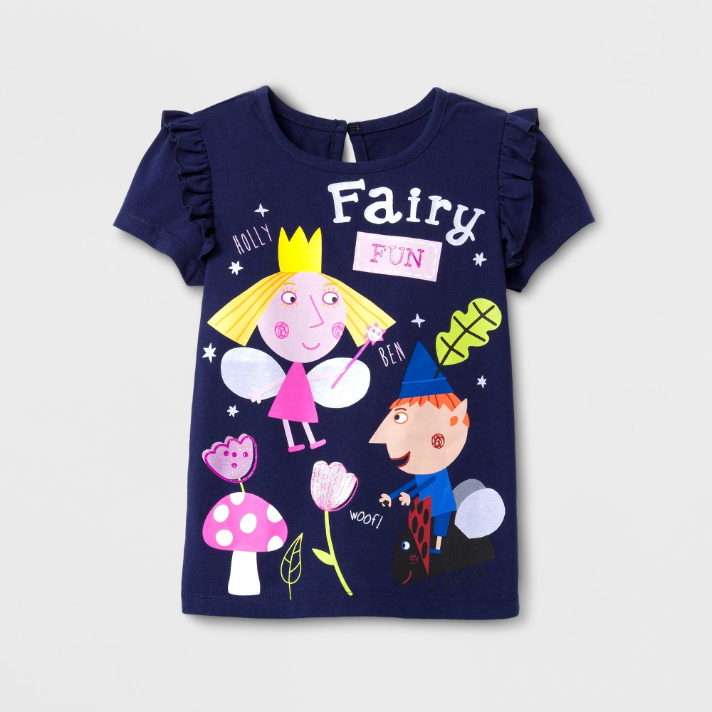 Toddler Girls Ben and Hollys Little Kingdom T-Shirt - Navy 4T, Blue