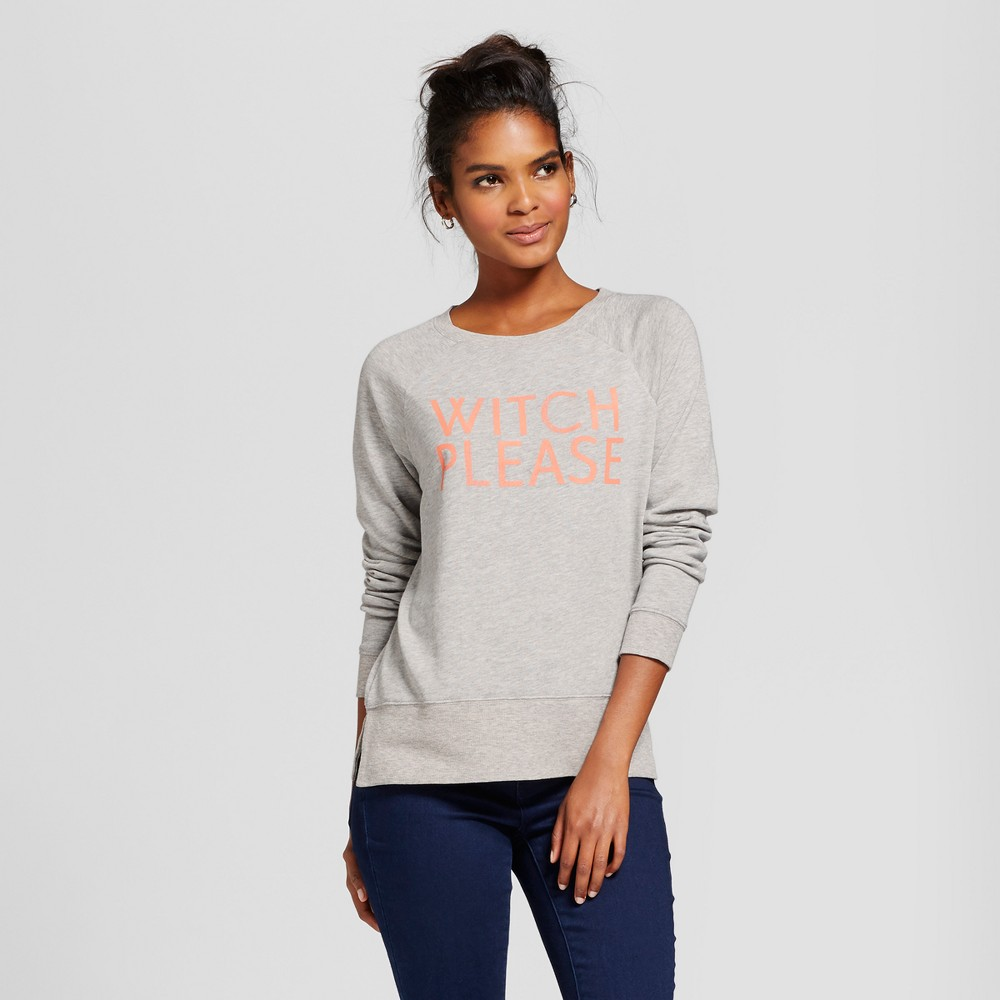 Womens Witch Please Pullover Graphic Sweatshirt - Grayson Threads (Juniors) Gray M