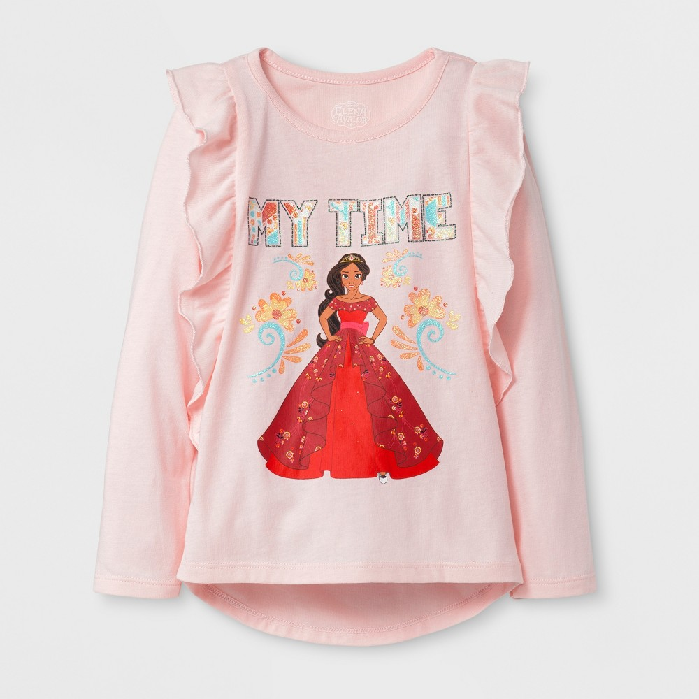 Toddler Girls' Disney Princess Long Sleeve T-Shirt - Pink 3T