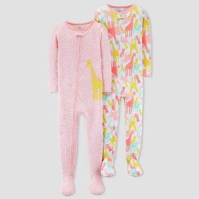 Toddler Girls' Giraffe/Safari Pajama Set - Just One You® made by carter's Pink 18M