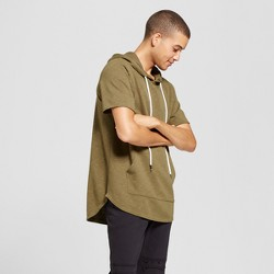 Men's Short Sleeve Curved Hem Hoodie Sweatshirt - Jackson™ Olive
