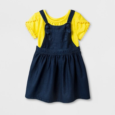 Toddler Girls' 2pc Jumper and Skirt Set - Cat & Jack™ Yellow 4T