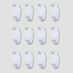 Hanes Women's 10pk + 2 Bonus No Show Socks with Cushion