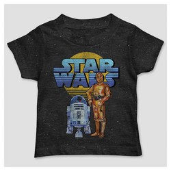Toddler Boys' Star Wars Short Sleeve Droids T-Shirt - Black