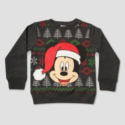 Mickey Mouse&Friends Toddler Boys' Mickey Mouse Pullover Sweater - Charcoal Heather