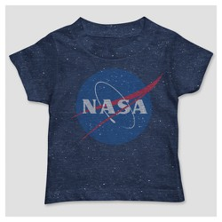 Toddler Boys' NASA Short Sleeve Logo T-Shirt - Navy