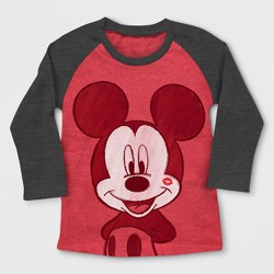 Toddler Boys' Mickey Mouse Long Sleeve T-Shirt - Red Heather