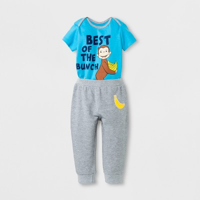 Baby Boys' Curious George® Top and Bottom Set - Blue 12 M