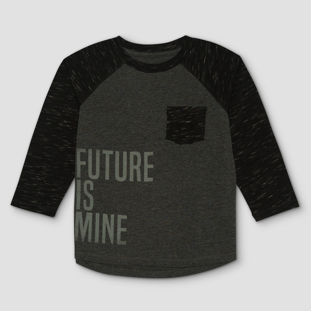 Toddler Boys Afton Street Long Sleeve T-Shirt - Charcoal Heather - 3T, Gray