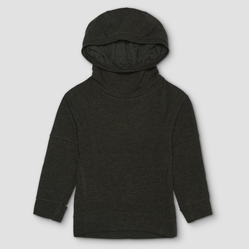 Toddler Boys Afton Street French Terry Hoodie Sweatshirt - Charcoal Heather - 4T, Gray