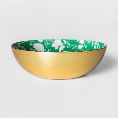 Round Enamel Serving Bowl Gold/Green - Threshold™