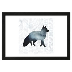 "Animal Silhouettes II by Grace Popp Framed Poster 19""x13"" - Art.Com"