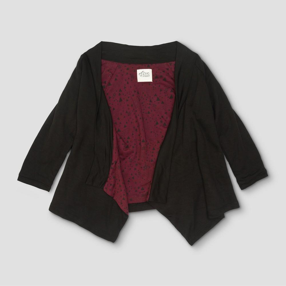 Toddler Girls Afton Street Fleece Cardigan Sweatshirt - Black - 18 Months, Size: 18 M