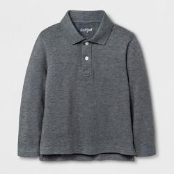 Toddler Boys' Long Sleeve Polo Shirt - Cat & Jack™ Heather Gray