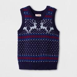 Toddler Boys' Sleeveless Sweater Vests - Cat & Jack™ Navy