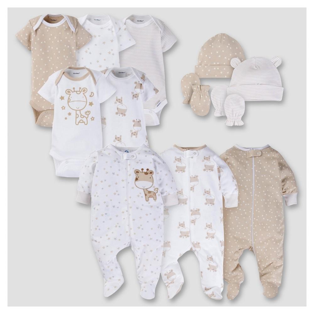 Gerber Baby 12pc Giraffe Layette Gift Set, Infant Unisex, Size: 0-3 M, Beige