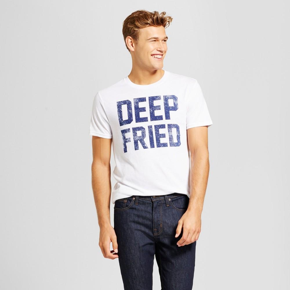 Mens Deep Fried T-Shirt White M - Awake