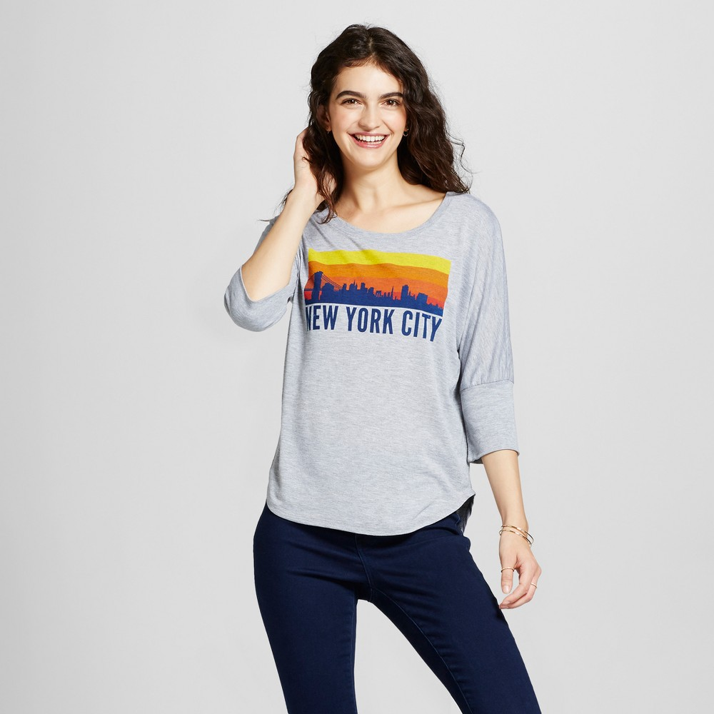 Women's New York City Apple Tunic Gray XS - Awake