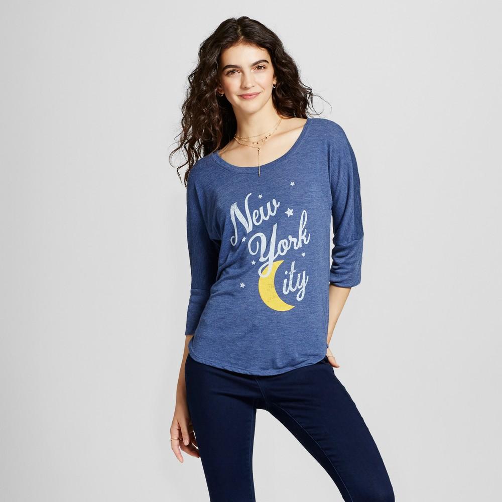 Womens New York City Moon Tunic Navy Xxl - Awake, Blue