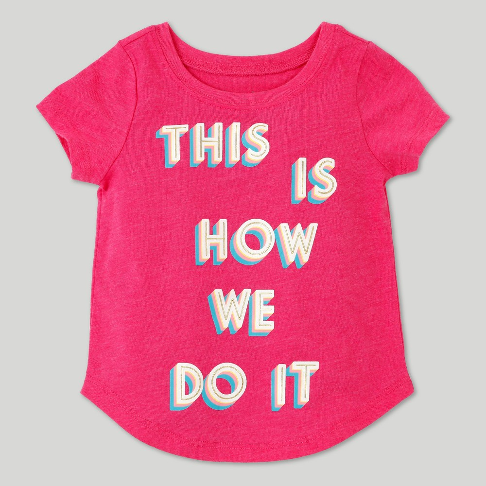 Toddler Girls This is How We Do It Short Sleeve T-Shirt - Tropical Pink - 18 M