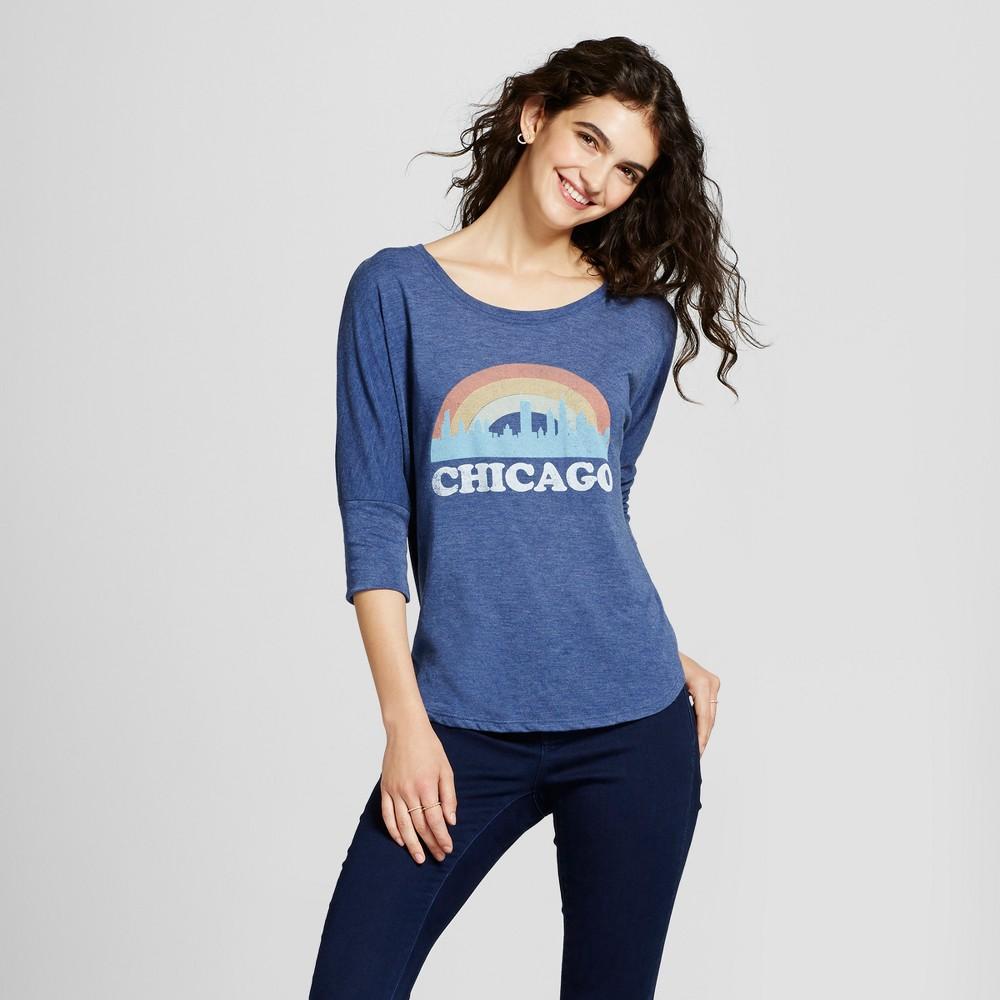 Womens Chicago Skyline Tunic Navy Xxl - Awake, Blue