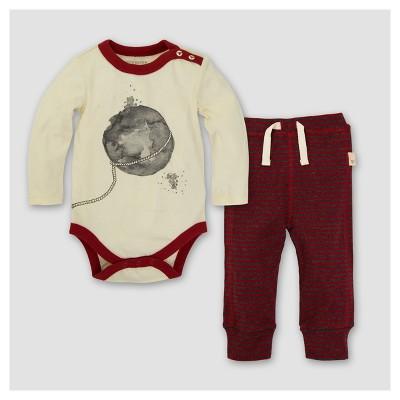 Burt's Bees Baby® Organic Lasso the Moon Bodysuit & Pants Set - Pink/White 3-6M