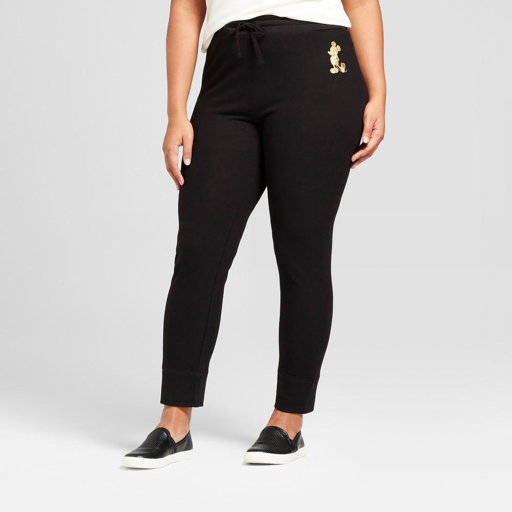 Women's Plus Size Disney Mickey Foil Graphic Jogger Pants...