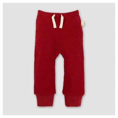 Burt's Bees Baby® Girls' Organic Quilted Pants - Red 0-3M