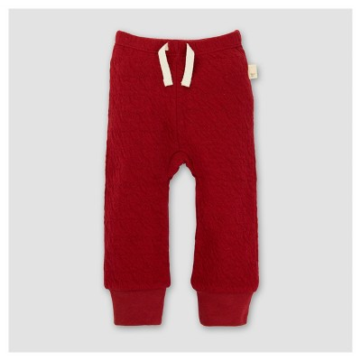 Burt's Bees Baby® Girls' Organic Quilted Pants - Red NB