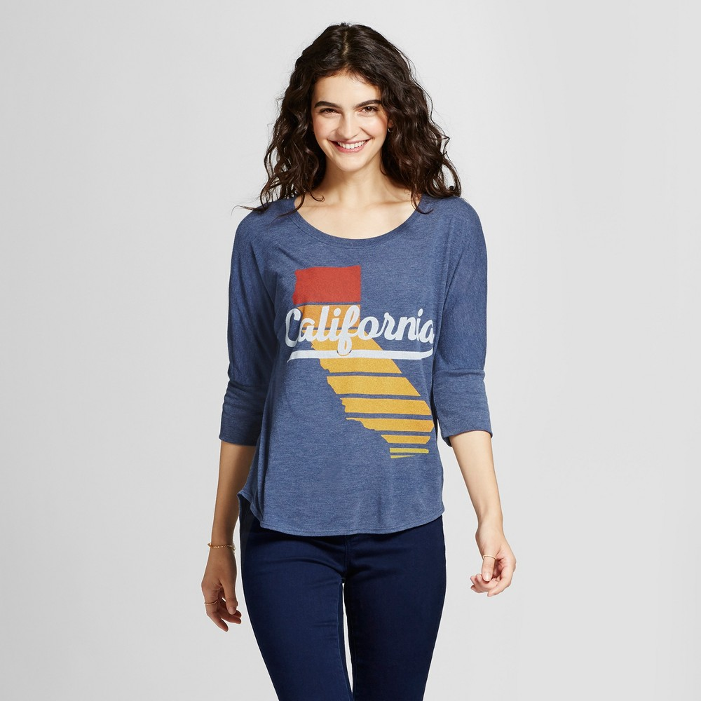 Womens California Sunset Tunic Navy S - Awake, Blue