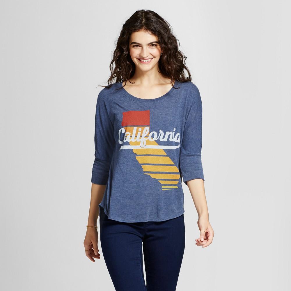Womens California Sunset Tunic Navy Xxl - Awake, Blue