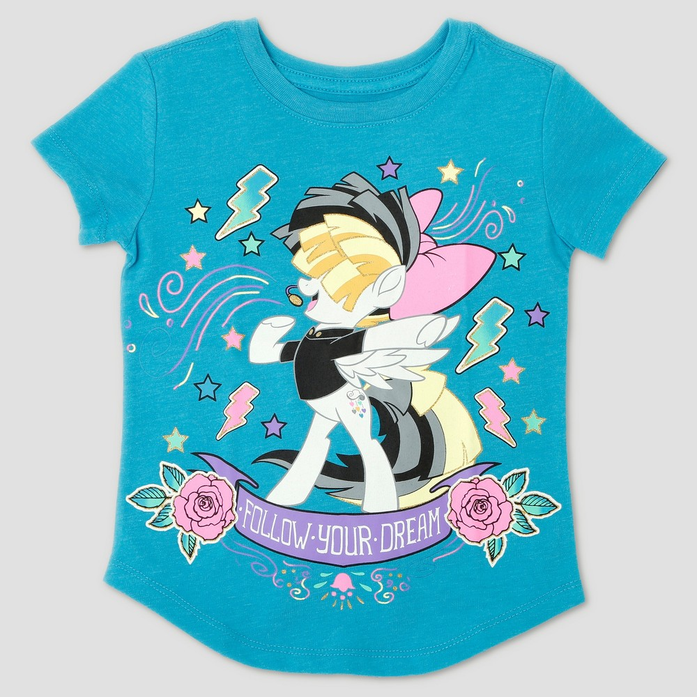 Toddler Girls My Little Pony Sia Pony Short Sleeve T-Shirt - Turquoise - 3T, Blue
