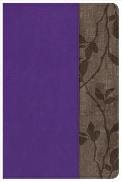 Holy Bible : Holman Study, New King James Version, Personal Size, Purple/Brown Cork LeatherTouch