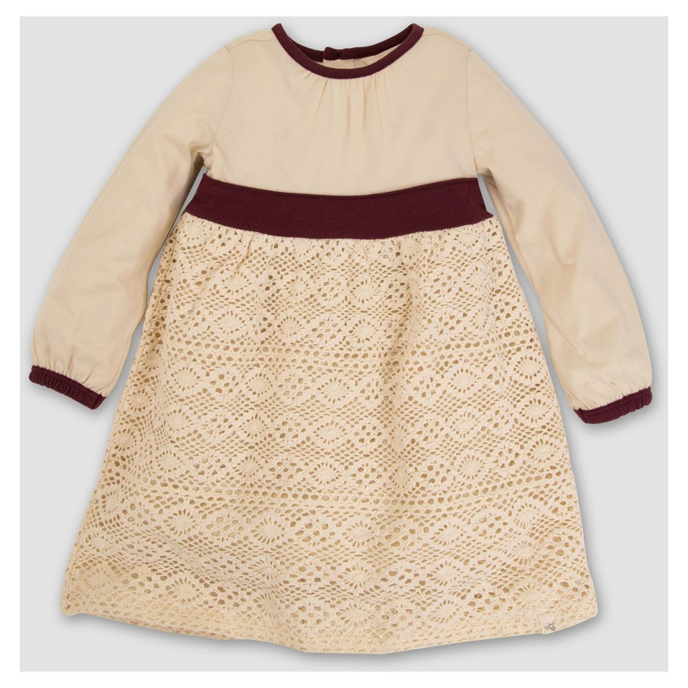 Burts Bees Baby Girls Organic Crochet Skirt Dress - White 18M, Size: 18 M