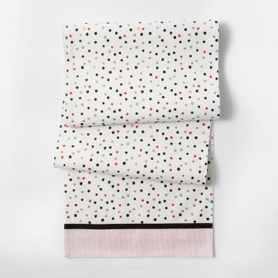 Cream Polka Dots Table Runner