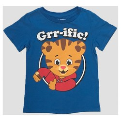 Toddler Boys' 'Grr-ific' Daniel Tiger's Neighborhood Short Sleeve T-Shirt - Blue