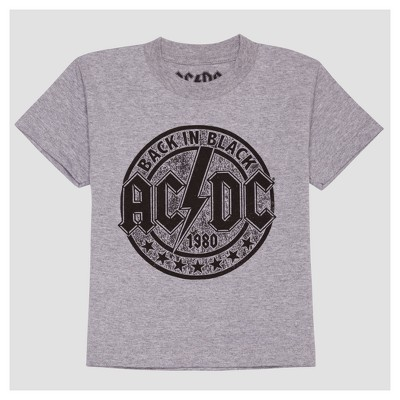 Toddler Boys' AC/DC Back in Black Short Sleeve T-Shirt - Ash - 2T