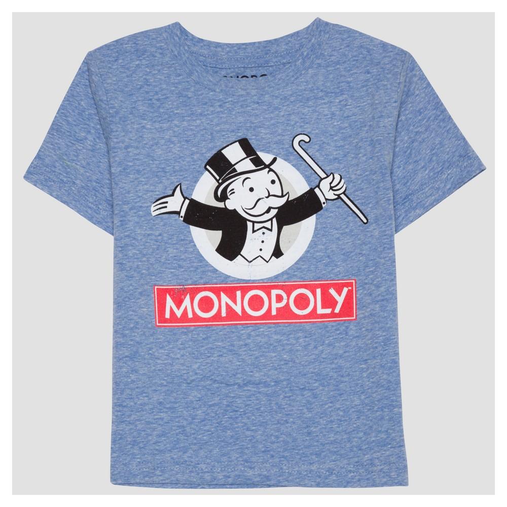 Toddler Boys Monopoly Short Sleeve T-Shirt - Light Blue - 12 M