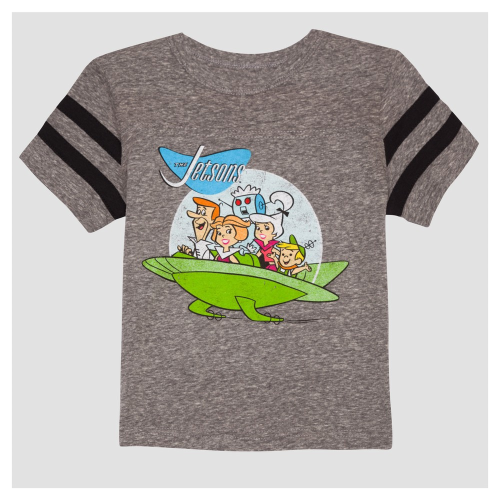 Toddler Boys The Jetsons Group Short Sleeve T-Shirt - Mid Gray - 4T