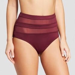 Women's Mesh Inset High Waist Bikini Bottom - Mossimo™