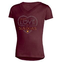 NCAA Girls' Crush V-Neck Soft-Cotton T-Shirt Arizona State Sun Devils