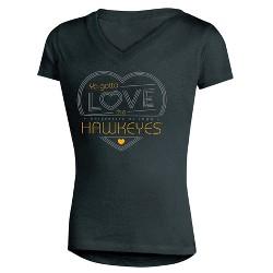 NCAA Girls' Crush V-Neck Soft-Cotton T-Shirt Iowa Hawkeyes