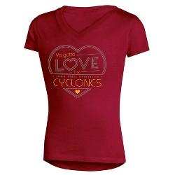 NCAA Girls' Crush V-Neck Soft-Cotton T-Shirt Iowa State Cyclones